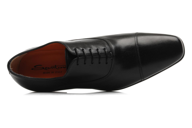 Chaussures à lacets Santoni Evan 11759 Noir vue gauche