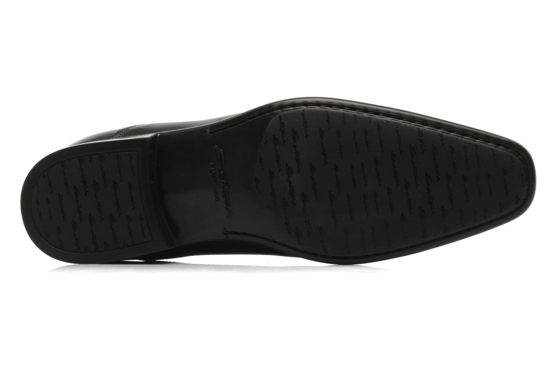 Chaussures à lacets Santoni Evan 11759 Noir vue haut