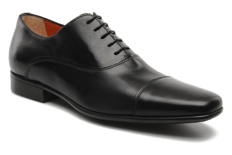 Chaussures à lacets Santoni Evan 11759 Noir vue détail/paire