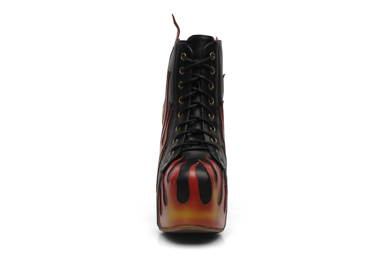 Bottines et boots Jeffrey Campbell LITA FLAME Noir vue portées chaussures