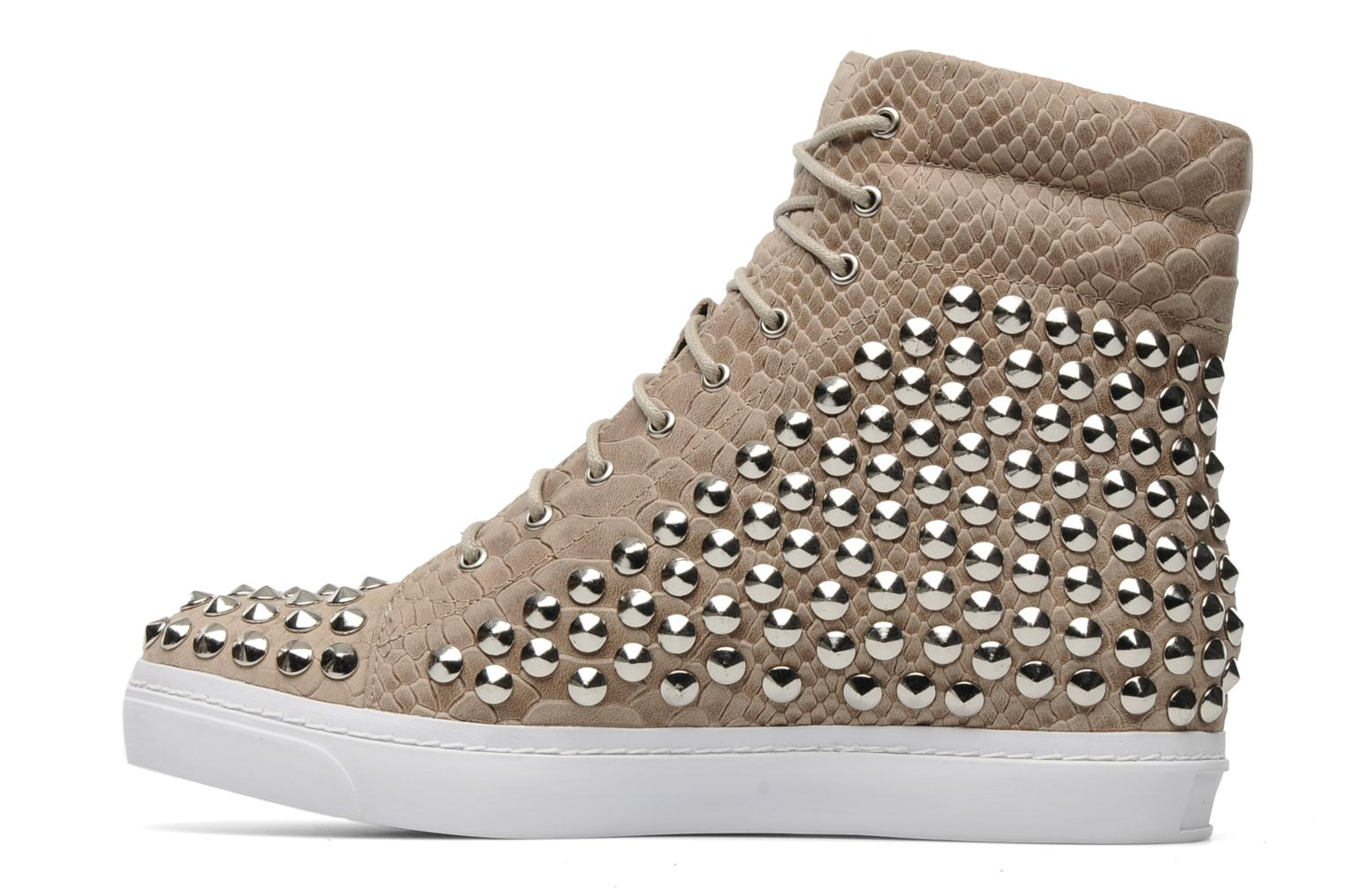 Baskets Jeffrey Campbell Alva-Hi Beige vue face