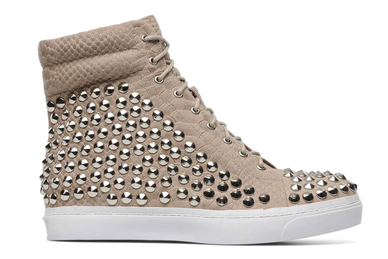 Sneakers Jeffrey Campbell Alva-Hi Beige achterkant