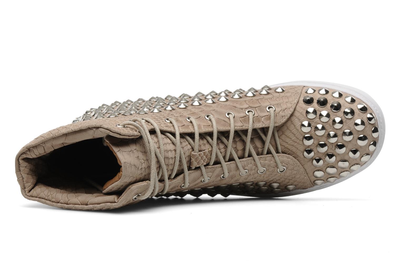 Sneaker Jeffrey Campbell Alva-Hi beige ansicht von links