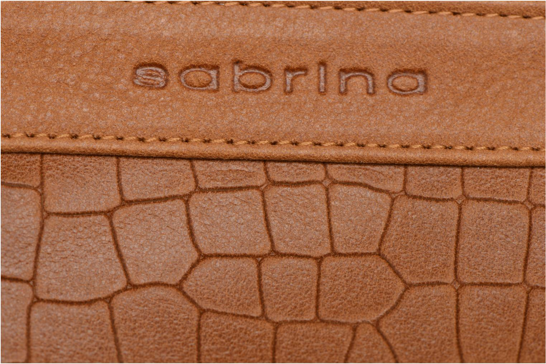 Kleine lederwaren Sabrina Nine Bruin links