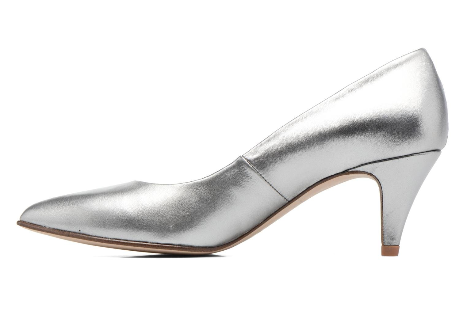 High heels Anna Volodia Ana Silver front view