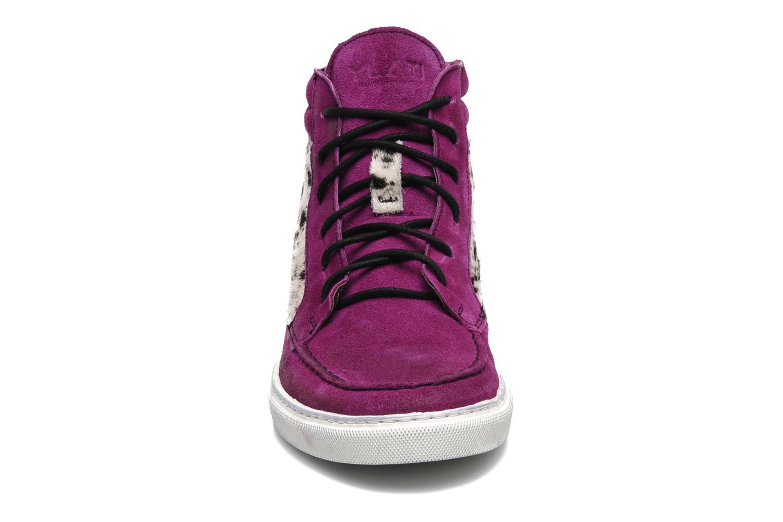 Baskets Ylati Sibilla High Violet vue portées chaussures