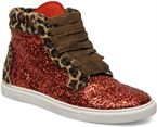 Rosso/Glitter Leopard