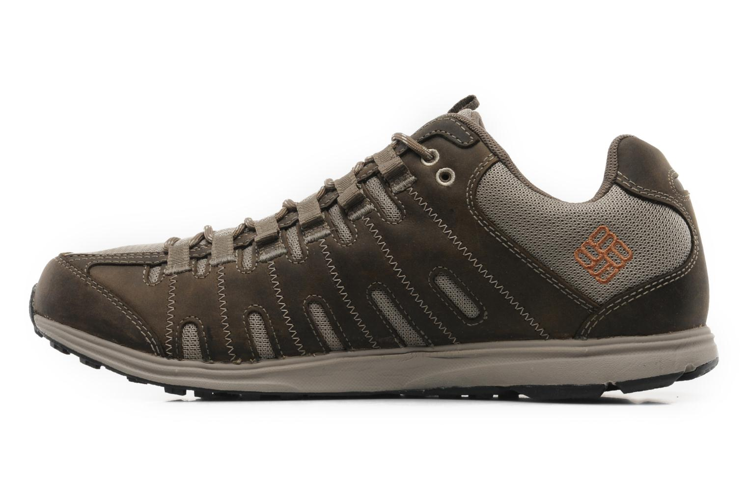 Sneakers Columbia Master Fly Leather M Bruin voorkant