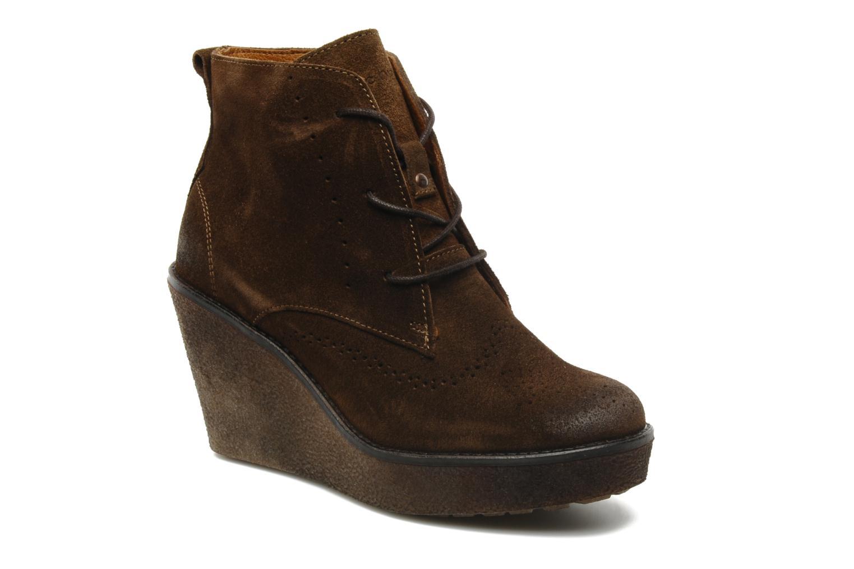 Bottines et boots Marc O'Polo Priscille Marron vue détail/paire