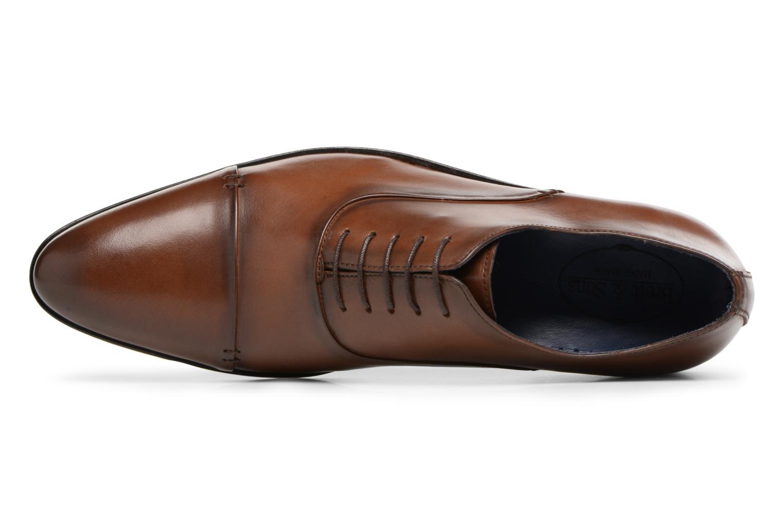 Chaussures à lacets Brett & Sons Garry Marron vue gauche