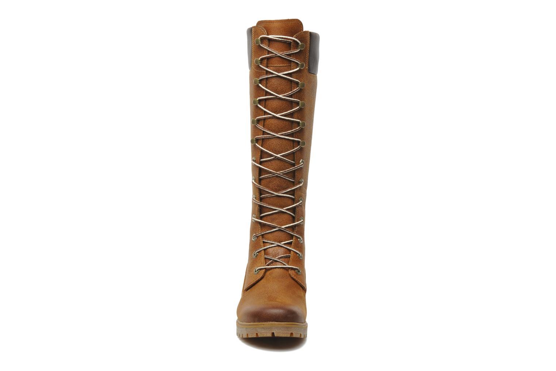 Bottes Timberland Women's Premium 14 inch Marron vue portées chaussures