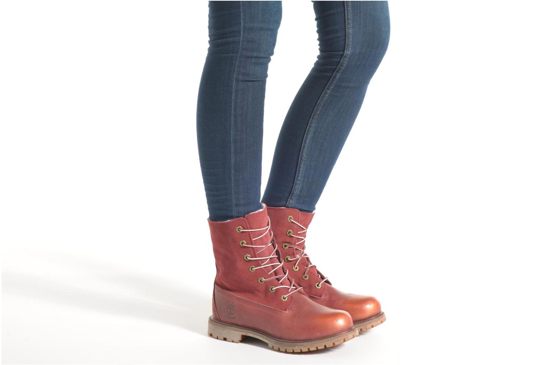 Bottines et boots Timberland Authentics Teddy Fleece Fold Down Bordeaux vue bas / vue portée sac