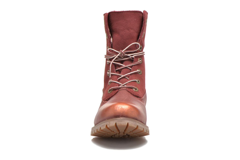 Bottines et boots Timberland Authentics Teddy Fleece Fold Down Bordeaux vue portées chaussures