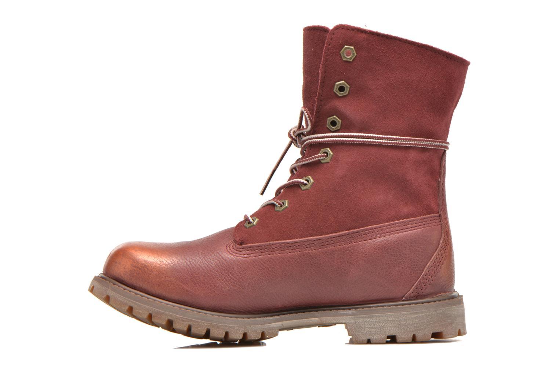 Bottines et boots Timberland Authentics Teddy Fleece Fold Down Bordeaux vue face