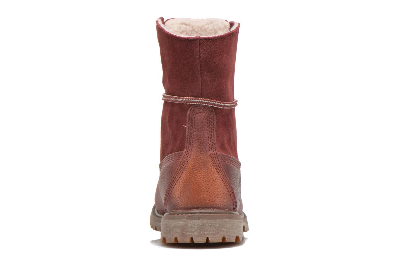 Bottines et boots Timberland Authentics Teddy Fleece Fold Down Bordeaux vue droite
