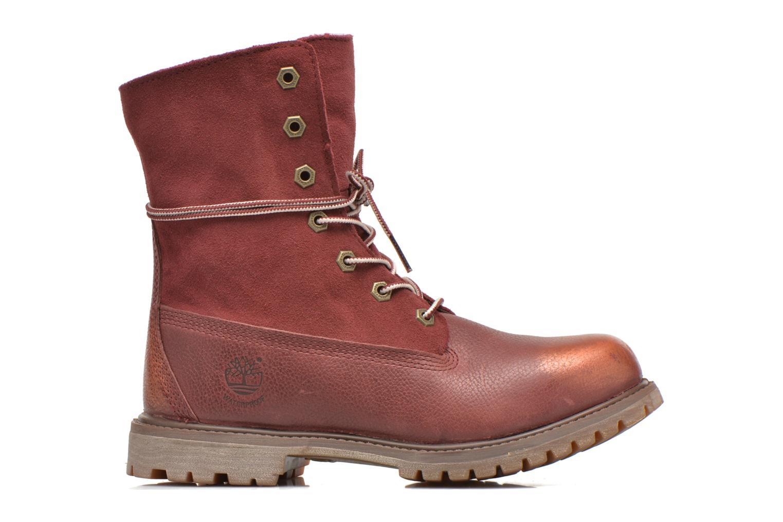 Bottines et boots Timberland Authentics Teddy Fleece Fold Down Bordeaux vue derrière