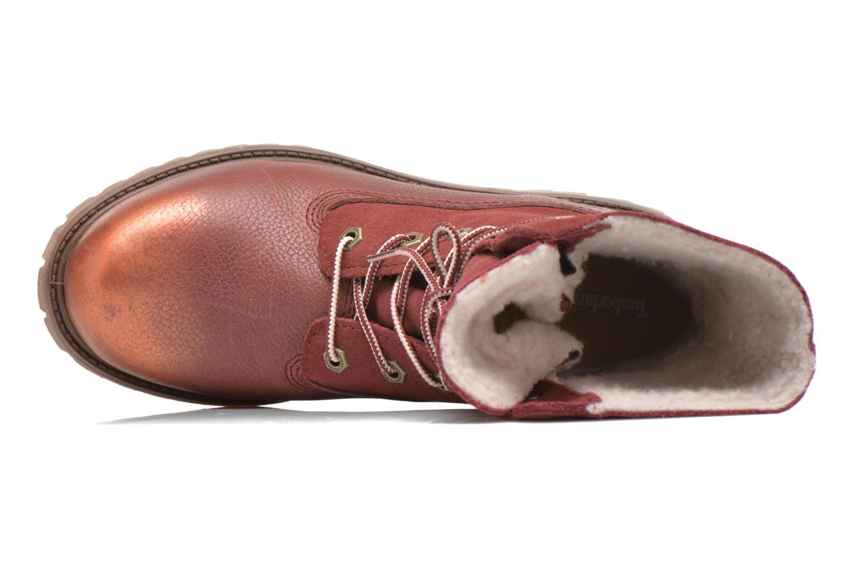 Bottines et boots Timberland Authentics Teddy Fleece Fold Down Bordeaux vue gauche