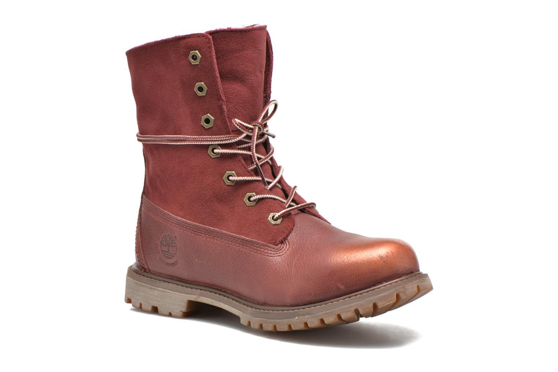 Bottines et boots Timberland Authentics Teddy Fleece Fold Down Bordeaux vue détail/paire