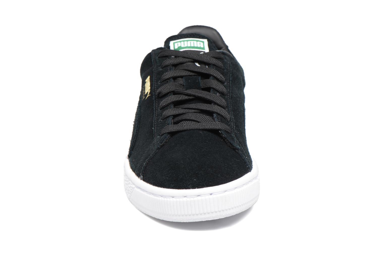 Suede classic eco W Black-Team Gold-White