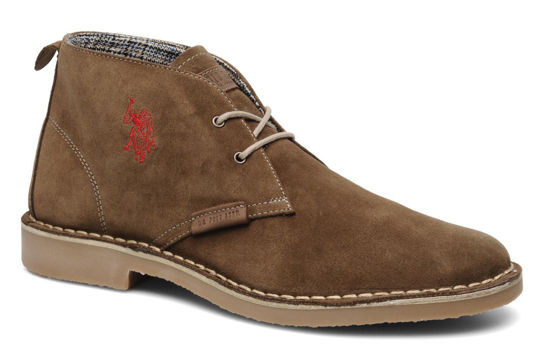 Zapatos marrones con cordones US Polo Association Amadeus para hombre ssMGJ