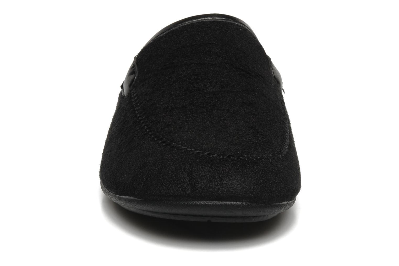 Hausschuhe Rondinaud Charente schwarz schuhe getragen