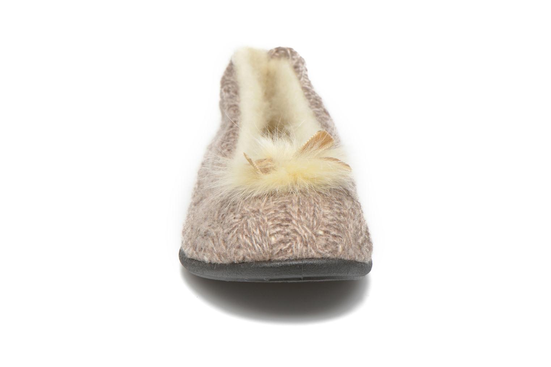 Chaussons Rondinaud Abzac Beige vue portées chaussures