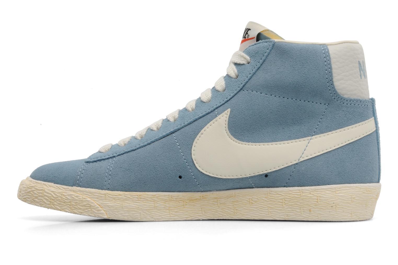 Sneakers Nike Wmns Blazer Mid Suede Vintage Blauw voorkant