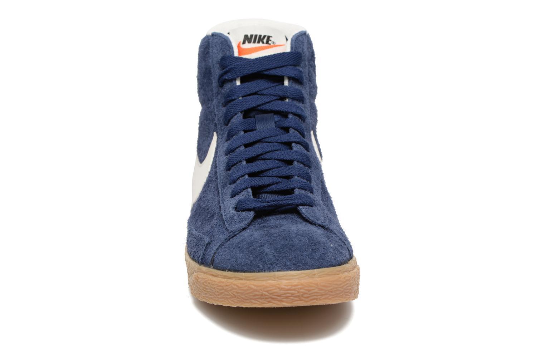 Sneaker Nike Wmns Blazer Mid Suede Vintage blau schuhe getragen