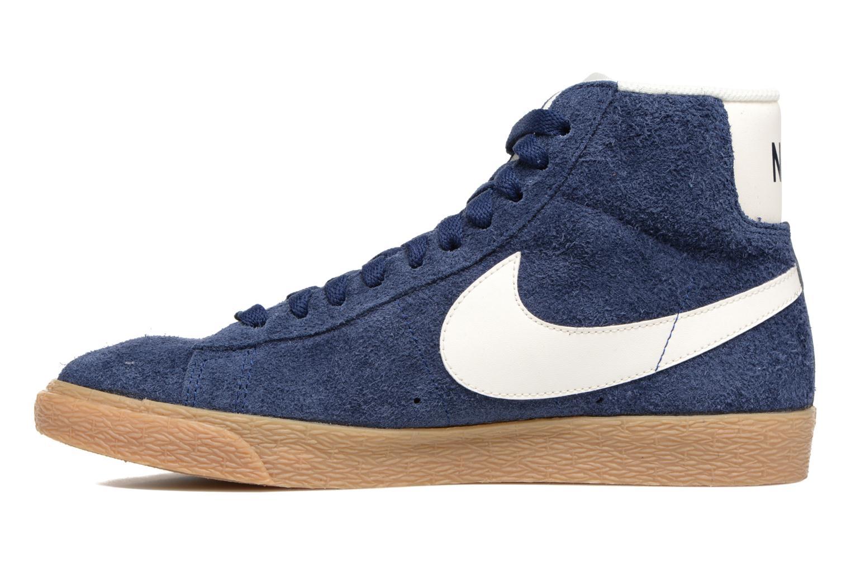 Baskets Nike Wmns Blazer Mid Suede Vintage Bleu vue face