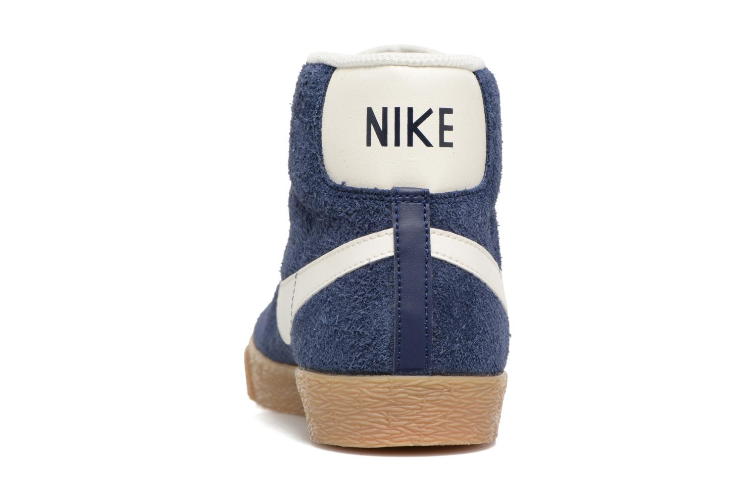 Trainers Nike Wmns Blazer Mid Suede Vintage Blue view from the right