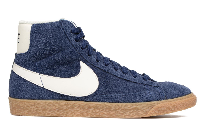 Baskets Nike Wmns Blazer Mid Suede Vintage Bleu vue derrière