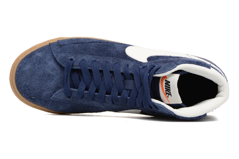 Sneaker Nike Wmns Blazer Mid Suede Vintage blau ansicht von links