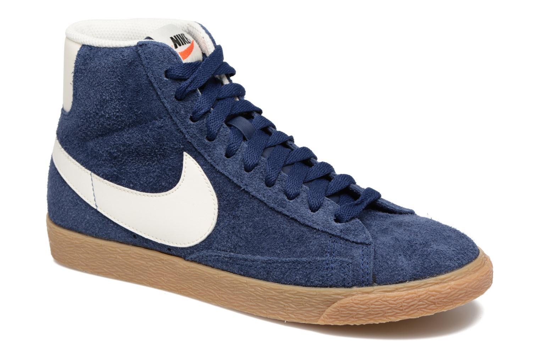 Sneaker Nike Wmns Blazer Mid Suede Vintage blau detaillierte ansicht/modell