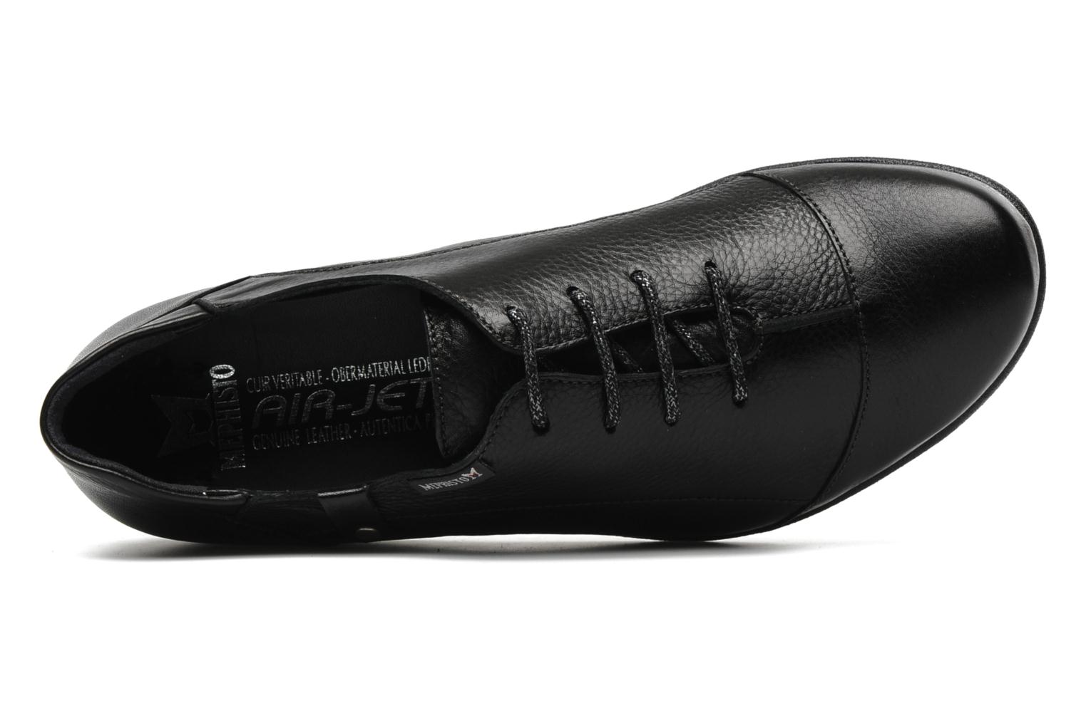Lace-up shoes Mephisto Gazina Black view from the left