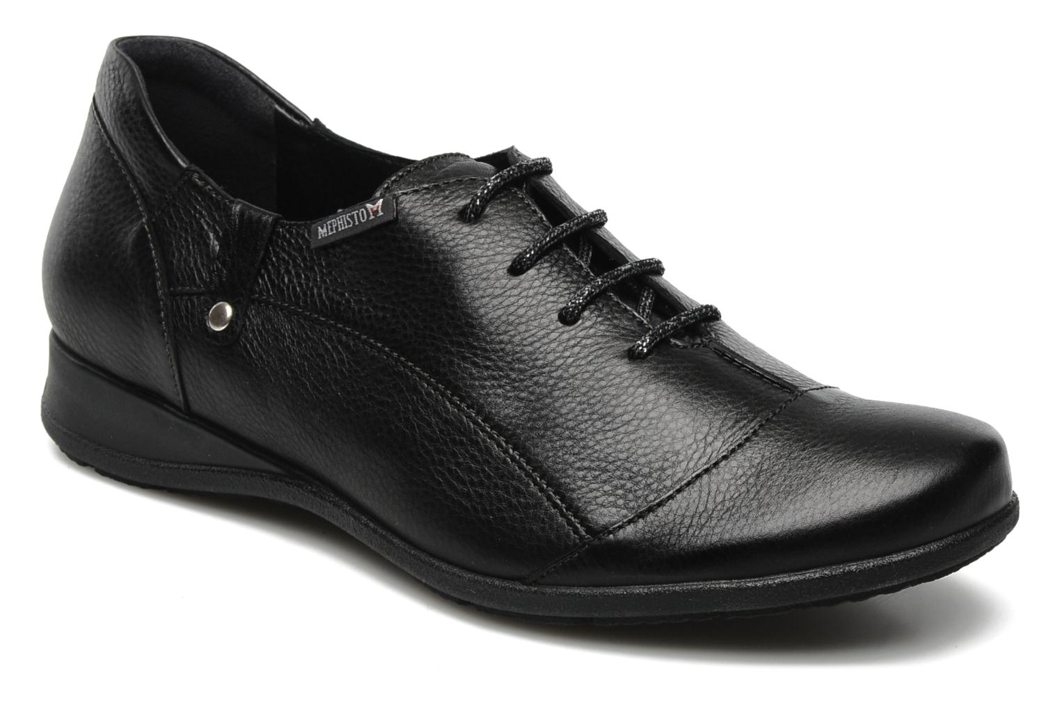 Lace-up shoes Mephisto Gazina Black detailed view/ Pair view