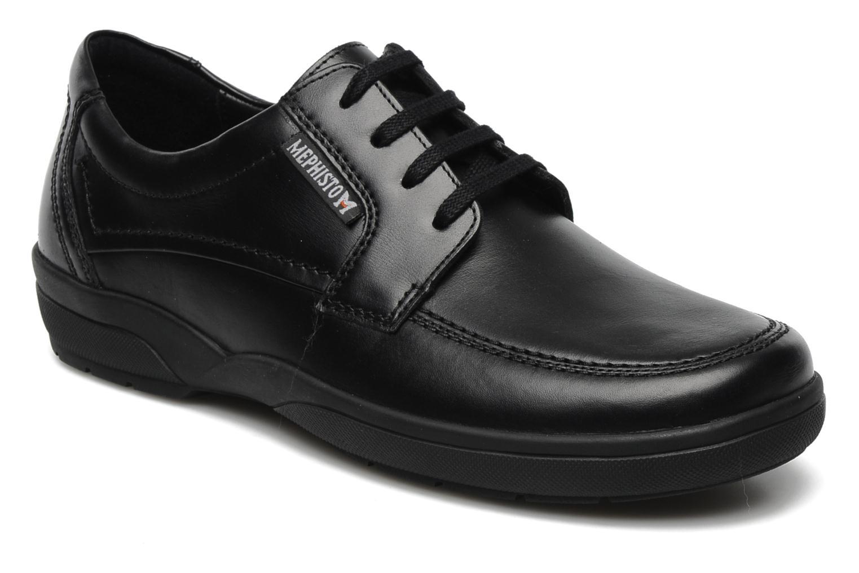 Zapatos con cordones Mephisto Agazio Negro vista de detalle / par