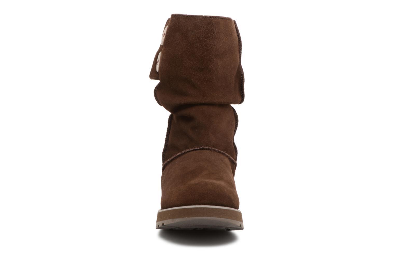 Bottines et boots Skechers Keepsakes Freezing Temps 47221 Marron vue portées chaussures