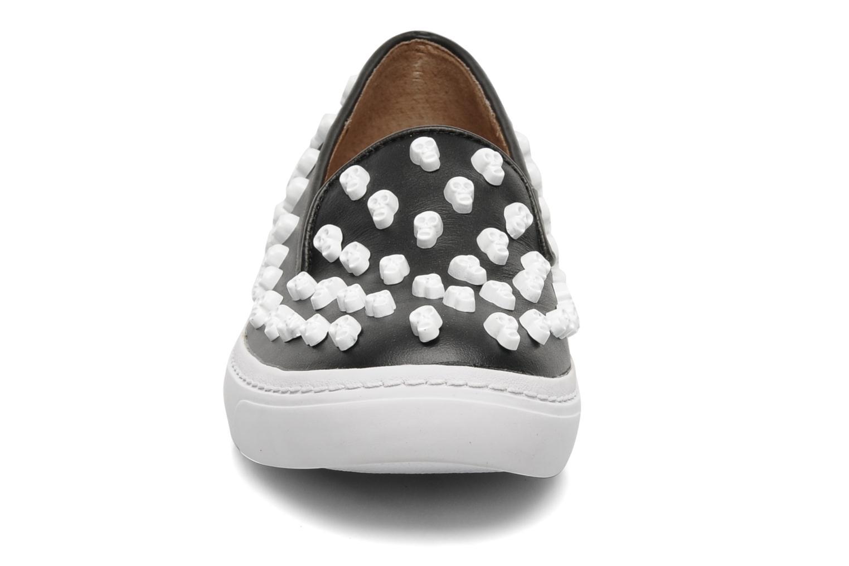 Baskets Jeffrey Campbell Skull Poli Noir vue portées chaussures