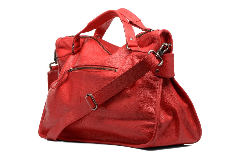 Handtaschen Nat & Nin Megan rot ansicht von rechts