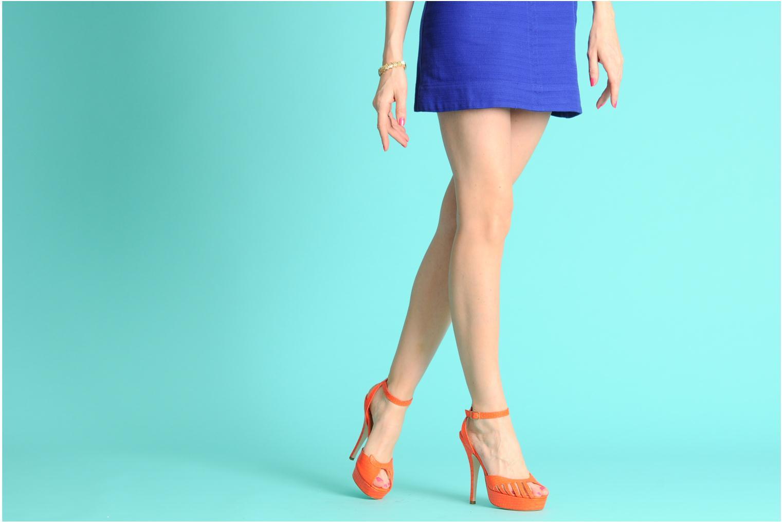Sandales et nu-pieds Terry de Havilland MARGUERITE Orange vue bas / vue portée sac