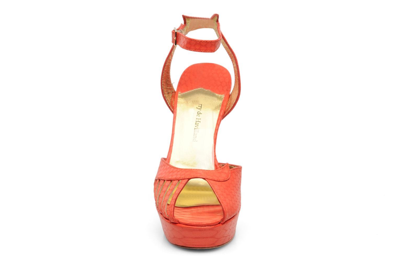 Sandales et nu-pieds Terry de Havilland MARGUERITE Orange vue portées chaussures