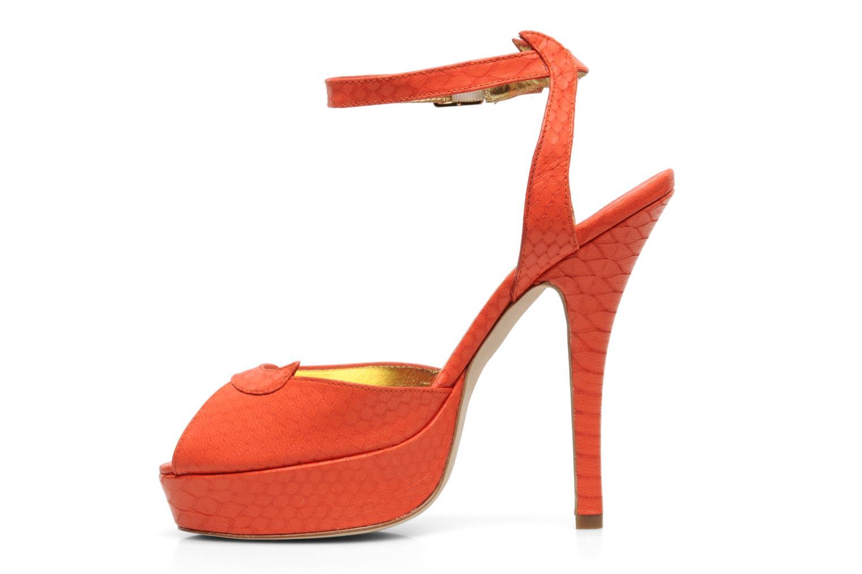 Sandals Terry de Havilland MARGUERITE Orange front view