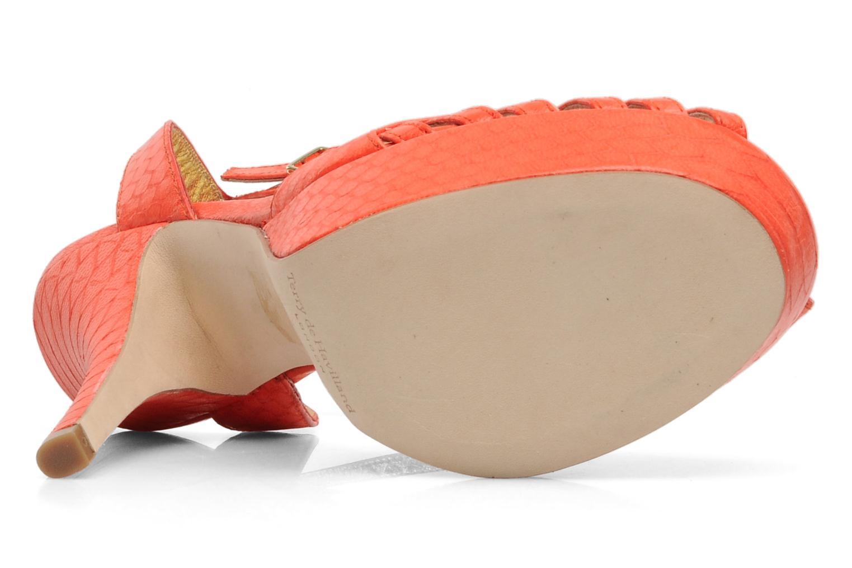 Sandals Terry de Havilland MARGUERITE Orange view from above