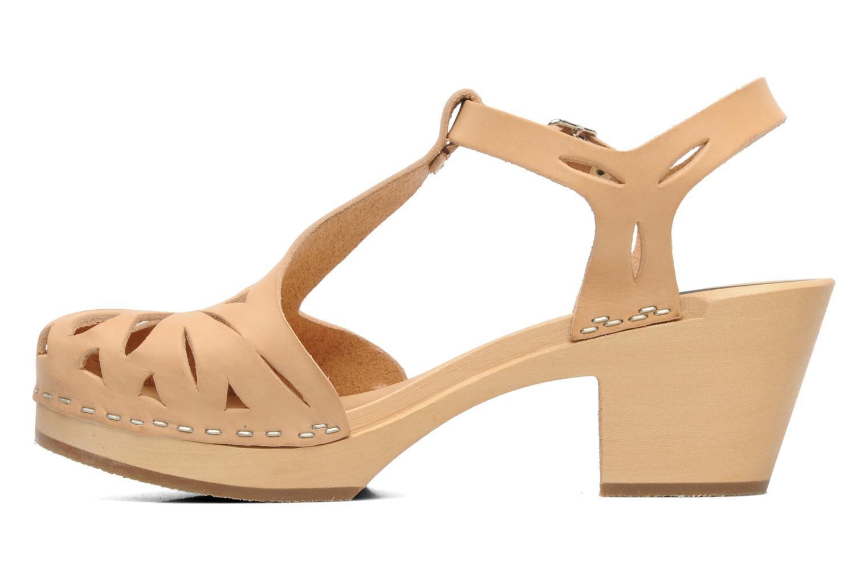 Sandales et nu-pieds Swedish Hasbeens Lacy Sandal Beige vue face