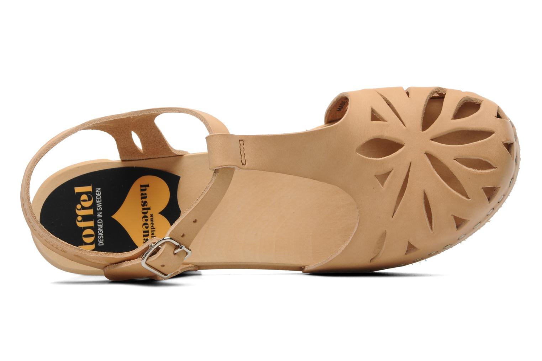 Sandalen Swedish Hasbeens Lacy Sandal beige ansicht von links