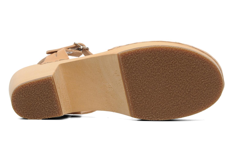 Sandalen Swedish Hasbeens Lacy Sandal beige ansicht von oben