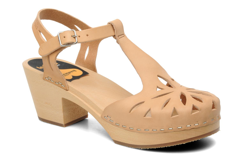 Sandales et nu-pieds Swedish Hasbeens Lacy Sandal Beige vue détail/paire