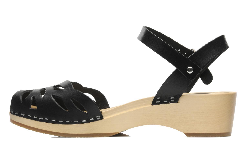 Sandales et nu-pieds Swedish Hasbeens Ornament clog Noir vue face
