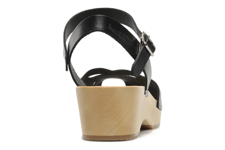 Sandales et nu-pieds Swedish Hasbeens Ornament clog Noir vue droite