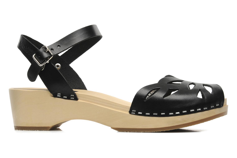 Sandales et nu-pieds Swedish Hasbeens Ornament clog Noir vue derrière